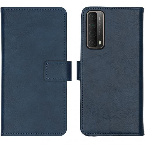 Luxe Booktype voor de Huawei P Smart (2021) - Donkerblauw