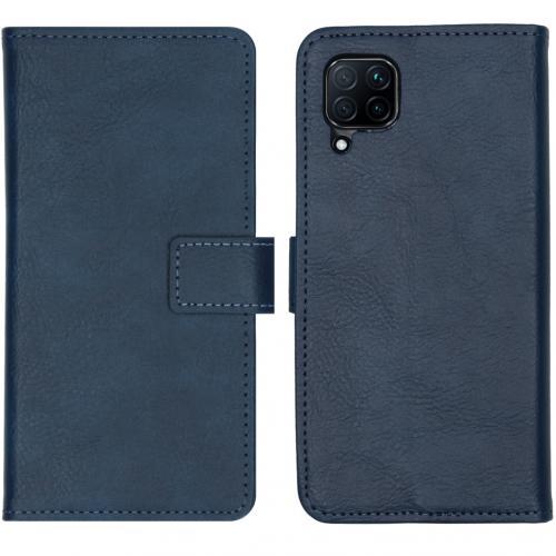 Luxe Booktype voor de Huawei P40 Lite - Donkerblauw