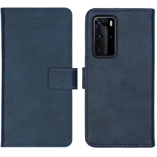 Luxe Booktype voor de Huawei P40 Pro - Donkerblauw