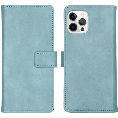 Luxe Booktype voor de iPhone 12 Pro Max - Lichtblauw