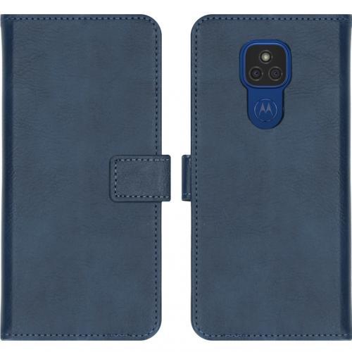 Luxe Booktype voor de Motorola Moto E7 Plus / G9 Play - Donkerblauw
