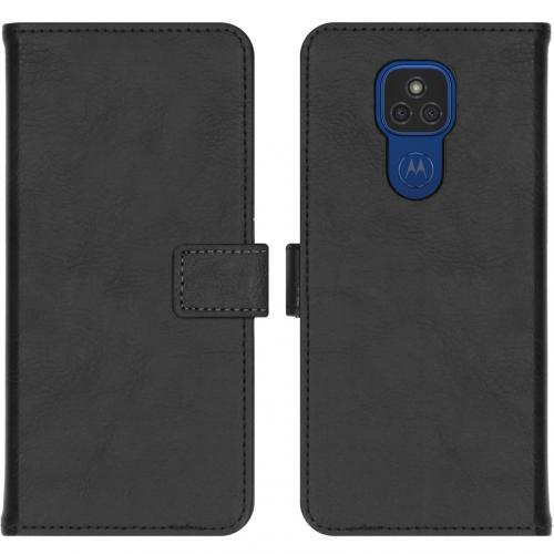 Luxe Booktype voor de Motorola Moto E7 Plus / G9 Play - Zwart