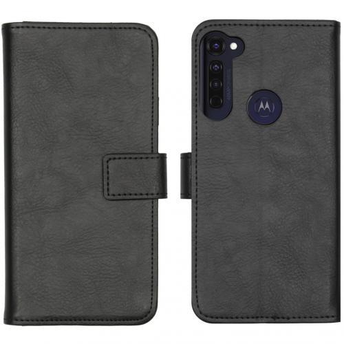 Luxe Booktype voor de Motorola Moto G Pro - Zwart