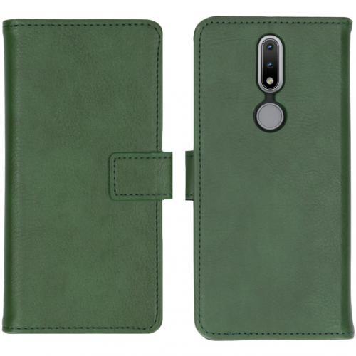 Luxe Booktype voor de Nokia 2.4 - Groen