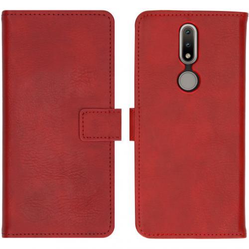Luxe Booktype voor de Nokia 2.4 - Rood