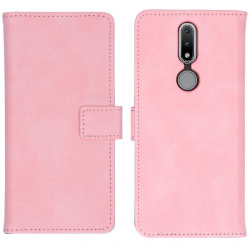 Luxe Booktype voor de Nokia 2.4 - Roze
