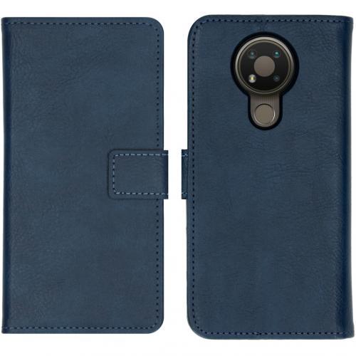 Luxe Booktype voor de Nokia 3.4 - Donkeblauw