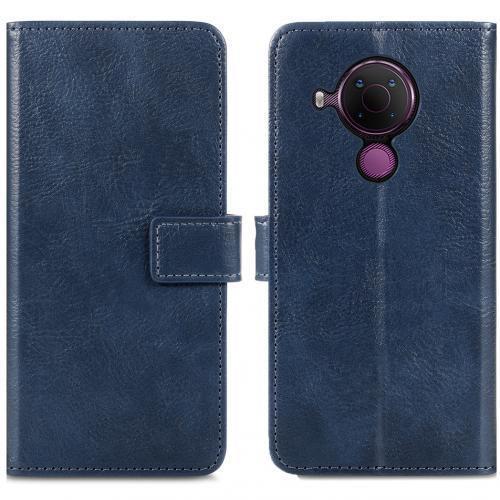 Luxe Booktype voor de Nokia 5.4 - Donkerblauw