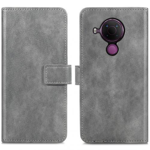 Luxe Booktype voor de Nokia 5.4 - Grijs