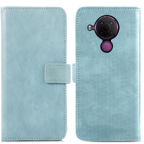 Luxe Booktype voor de Nokia 5.4 - Lichtblauw