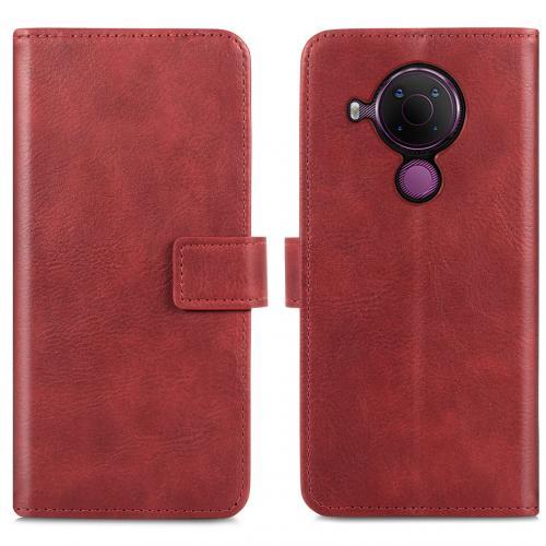 Luxe Booktype voor de Nokia 5.4 - Rood