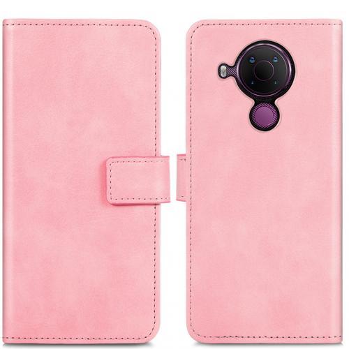 Luxe Booktype voor de Nokia 5.4 - Roze