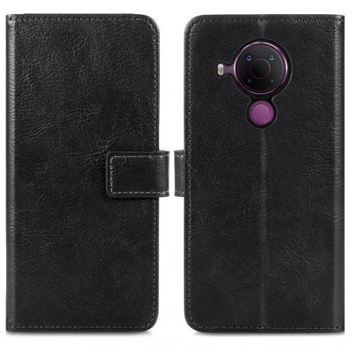 Luxe Booktype voor de Nokia 5.4 - Zwart