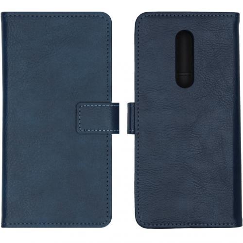 Luxe Booktype voor de OnePlus 8 - Blauw