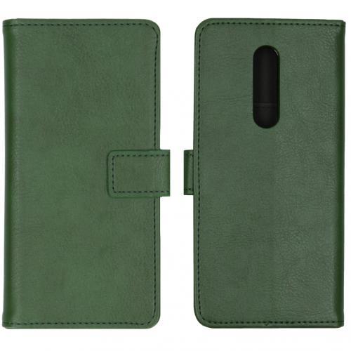 Luxe Booktype voor de OnePlus 8 - Groen