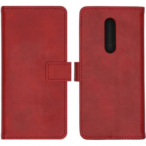 Luxe Booktype voor de OnePlus 8 - Rood