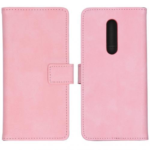 Luxe Booktype voor de OnePlus 8 - Roze
