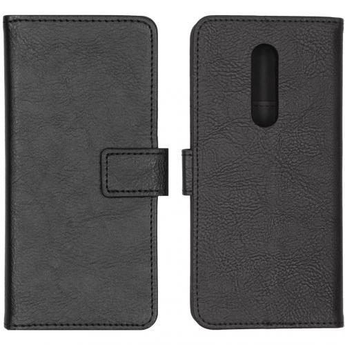 Luxe Booktype voor de OnePlus 8 - Zwart