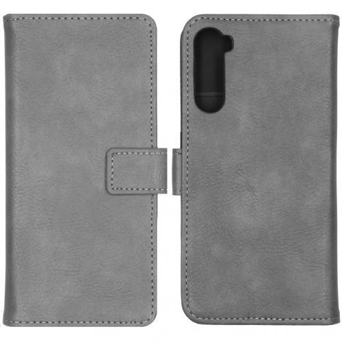 Luxe Booktype voor de OnePlus Nord - Grijs