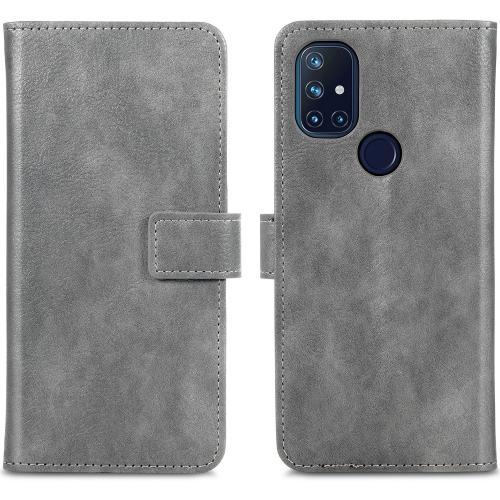 Luxe Booktype voor de OnePlus Nord N10 5G - Grijs