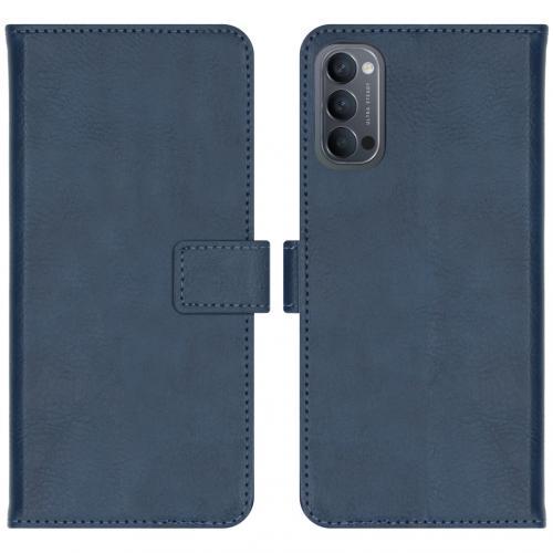 Luxe Booktype voor de Oppo Reno4 5G - Donkerblauw