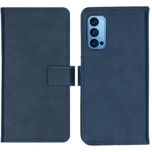 Luxe Booktype voor de Oppo Reno4 Pro 5G - Donkerblauw