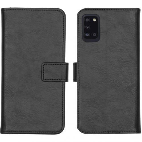 Luxe Booktype voor de Samsung Galaxy A31 - Zwart