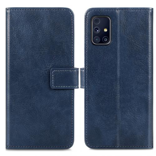 Luxe Booktype voor de Samsung Galaxy M31s - Donkerblauw