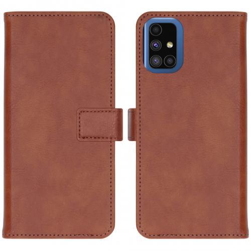 Luxe Booktype voor de Samsung Galaxy M51 - Bruin