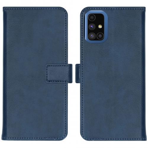 Luxe Booktype voor de Samsung Galaxy M51 - Donkerblauw
