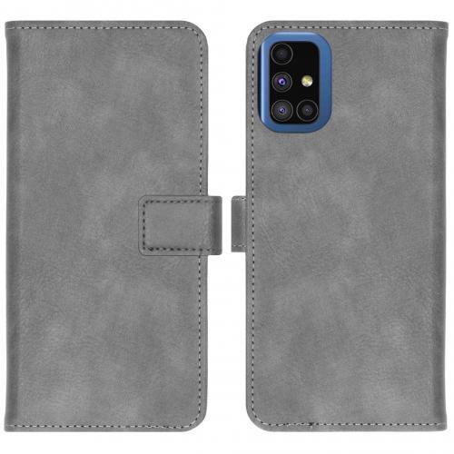 Luxe Booktype voor de Samsung Galaxy M51 - Grijs