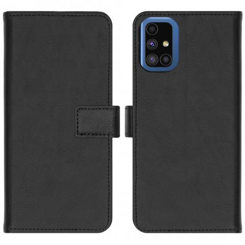 Luxe Booktype voor de Samsung Galaxy M51 - Zwart