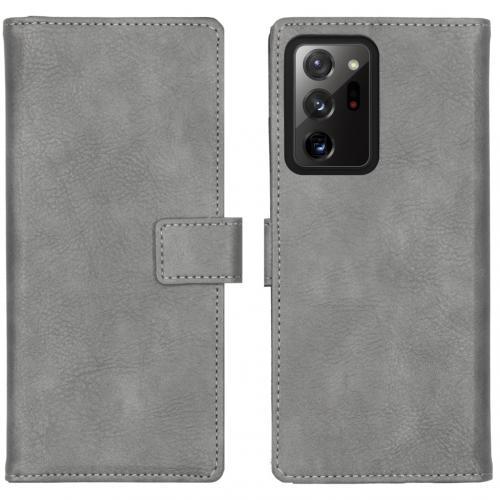 Luxe Booktype voor de Samsung Galaxy Note 20 Ultra - Grijs