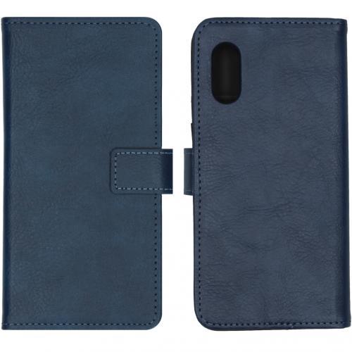 Luxe Booktype voor de Samsung Galaxy Xcover Pro - Blauw