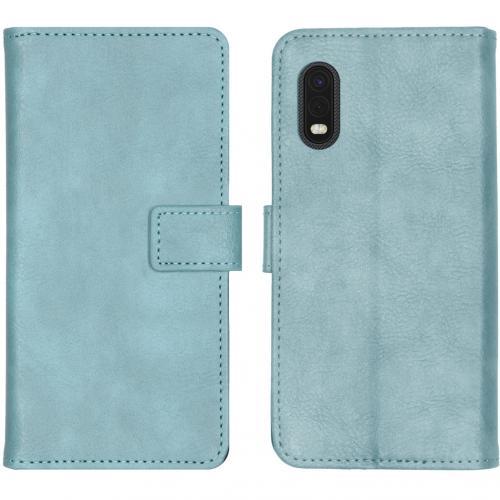 Luxe Booktype voor de Samsung Galaxy Xcover Pro - Lichtblauw