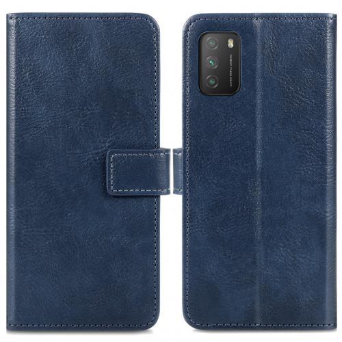 Luxe Booktype voor de Xiaomi Poco M3 - Donkerblauw