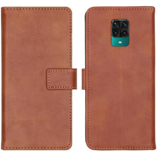 Luxe Booktype voor de Xiaomi Redmi Note 9 Pro / 9S - Bruin