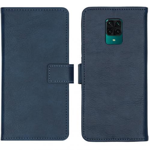 Luxe Booktype voor de Xiaomi Redmi Note 9 Pro / 9S - Donkerblauw