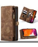 Luxe Lederen 2 in 1 Portemonnee Booktype voor de iPhone 12 (Pro) - Bruin