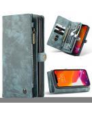 Luxe Lederen 2 in 1 Portemonnee Booktype voor de iPhone 12 (Pro) - Groen