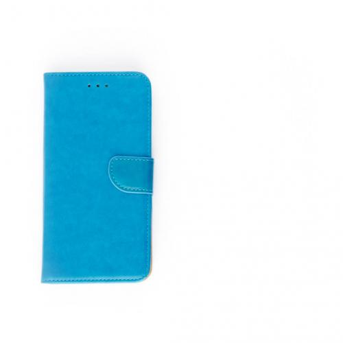 Luxe Lederen Bookcase hoesje  Blauw