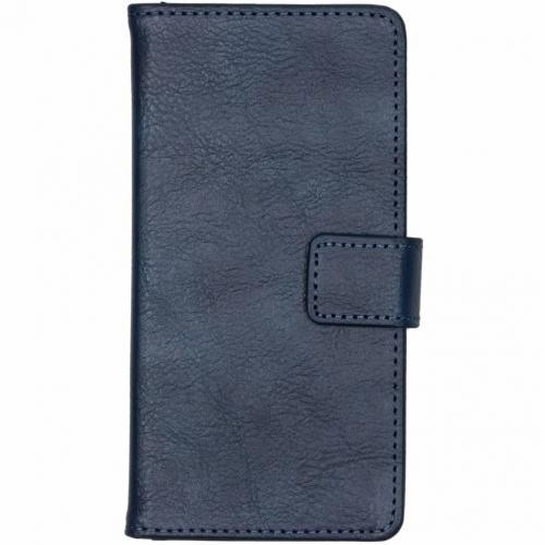 Luxe Lederen Booktype voor Nokia 3.1 Plus - Donkerblauw