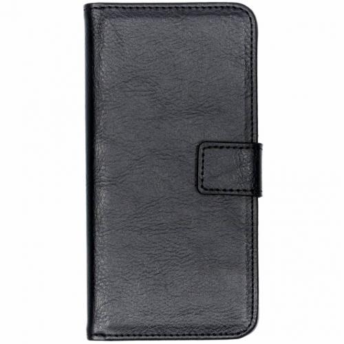 Luxe Lederen Booktype voor Nokia 3.1 Plus - Zwart