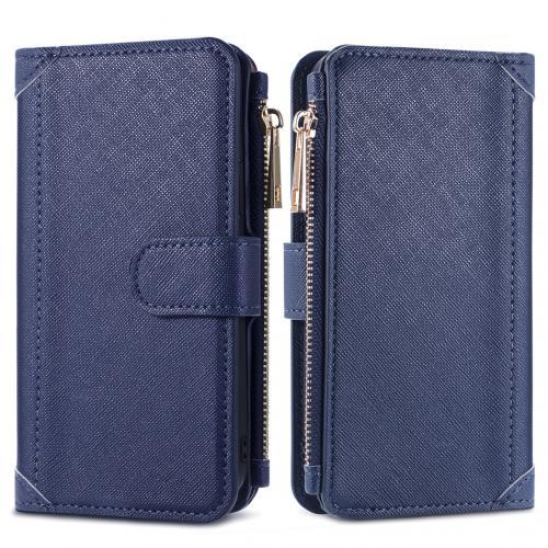 Luxe Portemonnee voor de iPhone 12 (Pro) - Donkerblauw