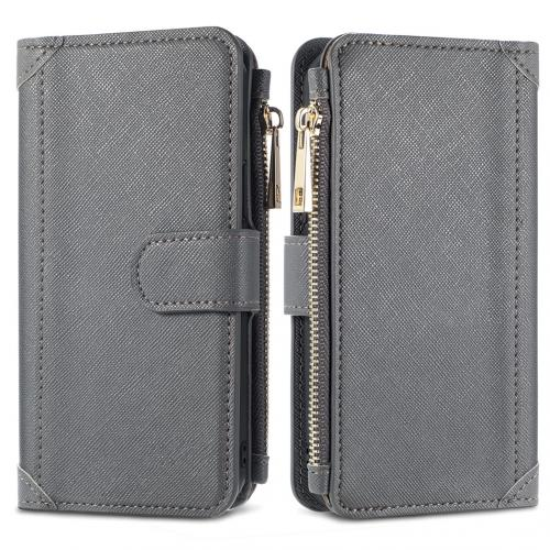 Luxe Portemonnee voor de iPhone 12 (Pro) - Grijs