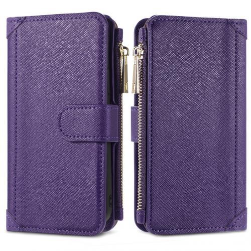 Luxe Portemonnee voor de iPhone 12 (Pro) - Paars