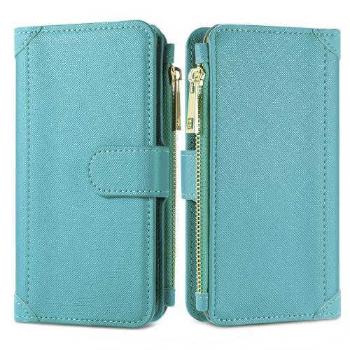 Luxe Portemonnee voor de iPhone 12 (Pro) - Turquoise