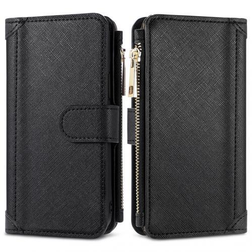 Luxe Portemonnee voor de iPhone 12 (Pro) - Zwart