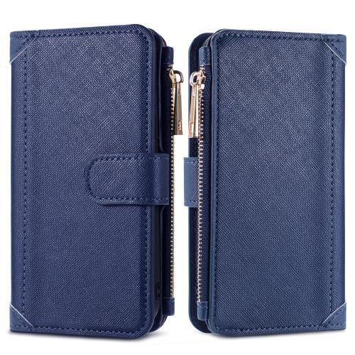 Luxe Portemonnee voor de Samsung Galaxy A12 - Donkerblauw