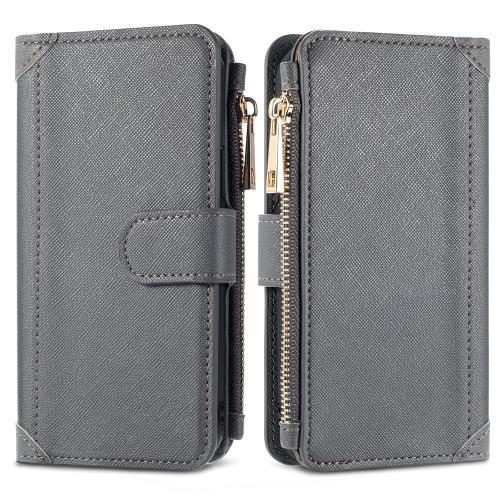 Luxe Portemonnee voor de Samsung Galaxy A12 - Grijs